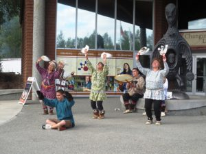 ACR members learned how native Alaskans survive the elements at the Cultural Center. Members were greeted with a native dance.