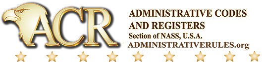 Administrative Codes & Registers Section of NASS